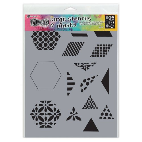 Ranger Ink - Dylusions Stencils - Small - 1.5 Inch Quilt