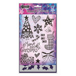 Ranger Ink - Dylusions Stamps - Christmas - Unmounted Rubber Stamps and Stencil Set - Stocking Fillers