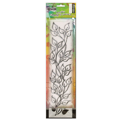 Ranger Ink - Dylusions Clear Acrylic Stamp and Stencil - Large - Leaf