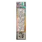Ranger Ink - Dylusions Clear Acrylic Stamp and Stencil - Small - Leaf