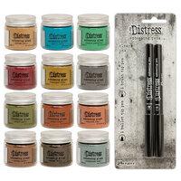 Ranger Ink - Tim Holtz - Distress Embossing Glaze - Bundle One with Distress Embossing Pen Set