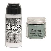 Ranger Ink - Tim Holtz - Distress Embossing Glaze and Clear Embossing Dabber - Weathered Wood