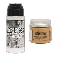 Ranger Ink - Tim Holtz - Distress Embossing Glaze and Clear Embossing Dabber - Antique Linen