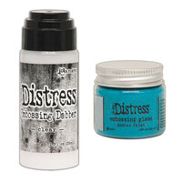 Ranger Ink - Tim Holtz - Distress Embossing Glaze and Clear Embossing Dabber - Broken China