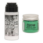 Ranger Ink - Tim Holtz - Distress Embossing Glaze and Clear Embossing Dabber - Cracked Pistachio