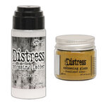 Ranger Ink - Tim Holtz - Distress Embossing Glaze and Clear Embossing Dabber - Fossilized Amber