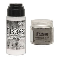 Ranger Ink - Tim Holtz - Distress Embossing Glaze and Clear Embossing Dabber - Hickory Smoke