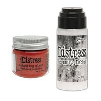 Ranger Ink - Tim Holtz - Distress Embossing Glaze and Clear Embossing Dabber - Crackling Campfire