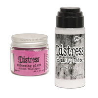 Ranger Ink - Tim Holtz - Distress Embossing Glaze and Clear Embossing Dabber - Kitsch Flamingo