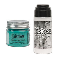 Ranger Ink - Tim Holtz - Distress Embossing Glaze and Clear Embossing Dabber - Salvaged Patina