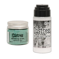 Ranger Ink - Tim Holtz - Distress Embossing Glaze and Clear Embossing Dabber - Speckled Egg