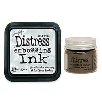 Ranger Ink - Tim Holtz - Distress Embossing Glaze and Clear Embossing Ink Pad - Walnut Stain