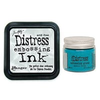 Ranger Ink - Tim Holtz - Distress Embossing Glaze and Clear Embossing Ink Pad - Broken China