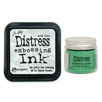 Ranger Ink - Tim Holtz - Distress Embossing Glaze and Clear Embossing Ink Pad - Cracked Pistachio