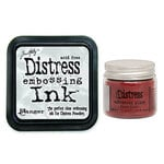 Ranger Ink - Tim Holtz - Distress Embossing Glaze and Clear Embossing Ink Pad - Fired Brick