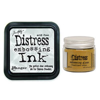 Ranger Ink - Tim Holtz - Distress Embossing Glaze and Clear Embossing Ink Pad - Fossilized Amber