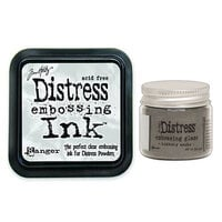 Ranger Ink - Tim Holtz - Distress Embossing Glaze and Clear Embossing Ink Pad - Hickory Smoke