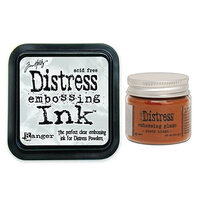 Ranger Ink - Tim Holtz - Distress Embossing Glaze and Clear Embossing Ink Pad - Rusty Hinge