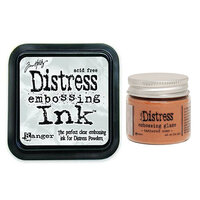 Ranger Ink - Tim Holtz - Distress Embossing Glaze and Clear Embossing Ink Pad - Tattered Rose