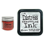 Ranger Ink - Tim Holtz - Distress Embossing Glaze and Clear Embossing Ink Pad - Crackling Campfire