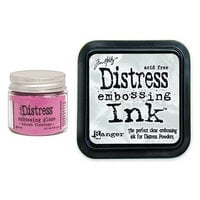 Ranger Ink - Tim Holtz - Distress Embossing Glaze and Clear Embossing Ink Pad - Kitsch Flamingo