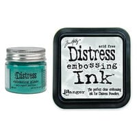 Ranger Ink - Tim Holtz - Distress Embossing Glaze and Clear Embossing Ink Pad - Salvaged Patina