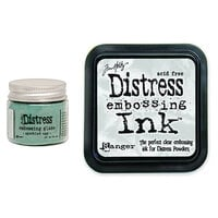 Ranger Ink - Tim Holtz - Distress Embossing Glaze and Clear Embossing Ink Pad - Speckled Egg