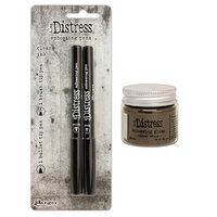 Ranger Ink - Tim Holtz - Distress Embossing Glaze and Embossing Pen Set - Walnut Stain
