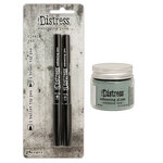 Ranger Ink - Tim Holtz - Distress Embossing Glaze and Embossing Pen Set - Weathered Wood