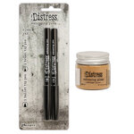 Ranger Ink - Tim Holtz - Distress Embossing Glaze and Embossing Pen Set - Antique Linen