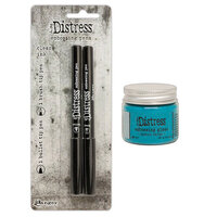 Ranger Ink - Tim Holtz - Distress Embossing Glaze and Embossing Pen Set - Broken China