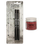 Ranger Ink - Tim Holtz - Distress Embossing Glaze and Embossing Pen Set - Fired Brick