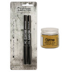 Ranger Ink - Tim Holtz - Distress Embossing Glaze and Embossing Pen Set - Fossilized Amber