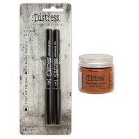 Ranger Ink - Tim Holtz - Distress Embossing Glaze and Embossing Pen Set - Rusty Hinge