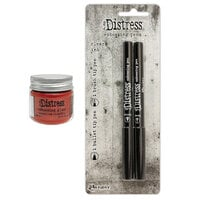 Ranger Ink - Tim Holtz - Distress Embossing Glaze and Embossing Pen Set - Crackling Campfire