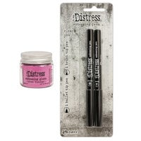 Ranger Ink - Tim Holtz - Distress Embossing Glaze and Embossing Pen Set - Kitsch Flamingo
