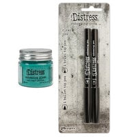 Ranger Ink - Tim Holtz - Distress Embossing Glaze and Embossing Pen Set - Salvaged Patina