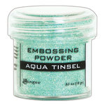 Ranger Ink - Embossing Powder - Aqua Tinsel