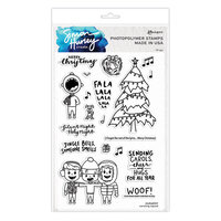 Ranger Ink - Christmas - Simon Hurley - Clear Photopolymer Stamps - Caroling Squad