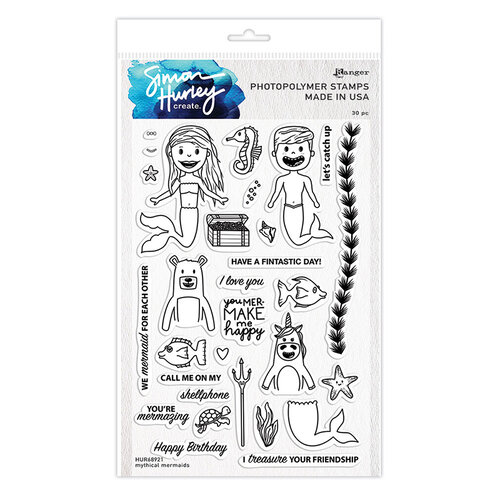 Ranger Ink - Simon Hurley - Clear Photopolymer Stamps - Mythical Mermaids