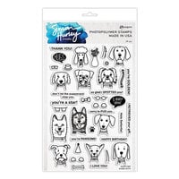 Ranger Ink - Simon Hurley - Clear Photopolymer Stamps - Puppy Puns