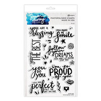 Ranger Ink - Simon Hurley - Clear Photopolymer Stamps - Encouraging Words