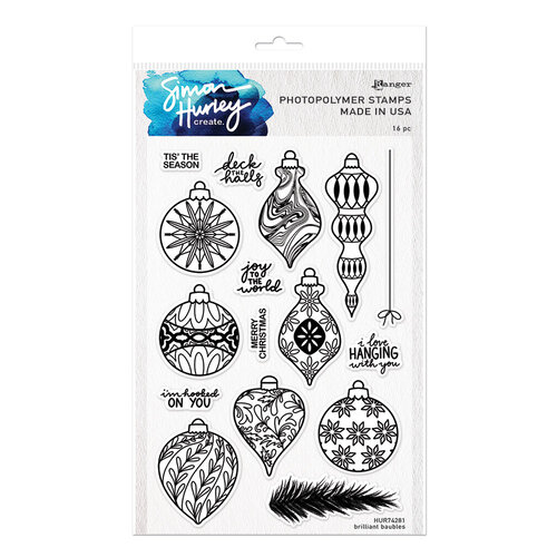 Ranger Ink - Simon Hurley - Clear Photopolymer Stamps - Brilliant Baubles