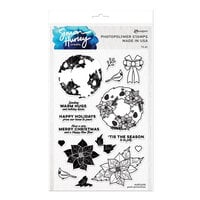 Ranger Ink - Simon Hurley - Clear Photopolymer Stamps - Posh Poinsettias