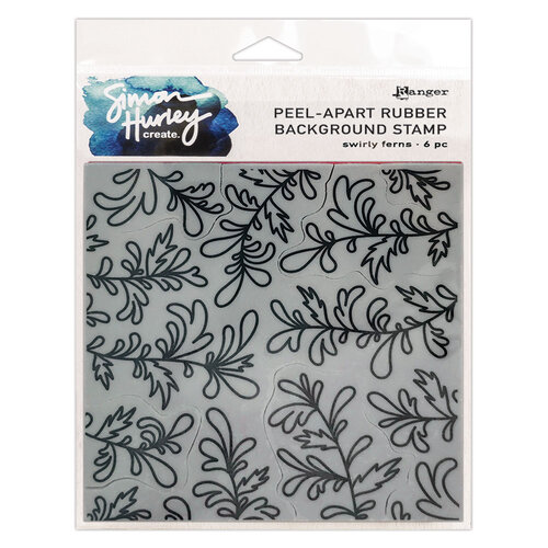 Ranger Ink - Simon Hurley - Cling Mounted Rubber Stamps - Swirly Ferns