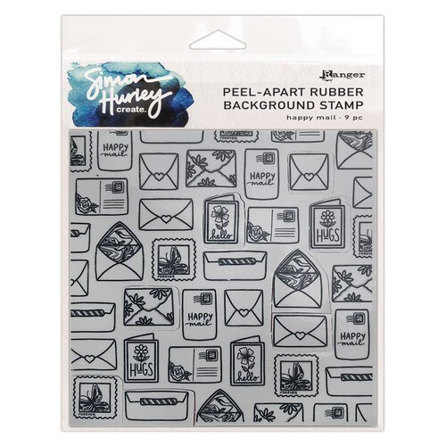 Ranger Ink - Simon Hurley - Cling Mounted Rubber Stamps - Happy Mail