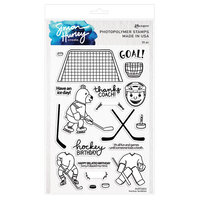 Ranger Ink - Simon Hurley - Clear Photopolymer Stamps - Hockey Buddies