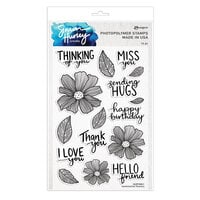 Ranger Ink - Simon Hurley - Clear Photopolymer Stamps - Sentimental Flowers