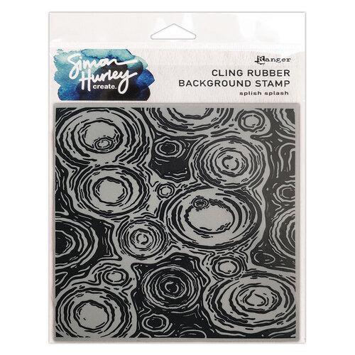 Ranger Ink - Simon Hurley - Cling Mounted Rubber Stamps - Splish Splash