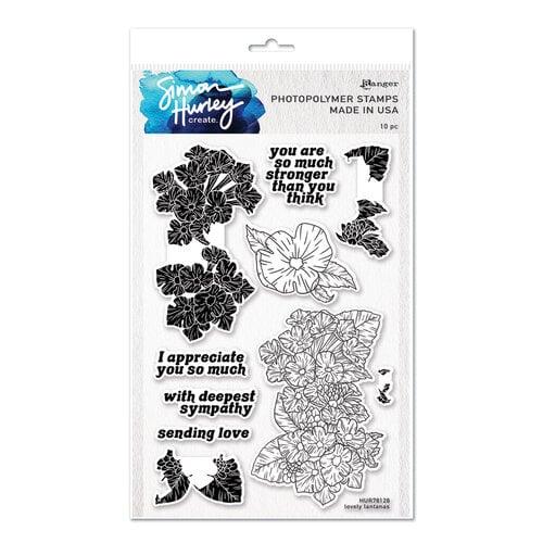 Ranger Ink - Simon Hurley - Clear Photopolymer Stamps - Lovely Lantanas
